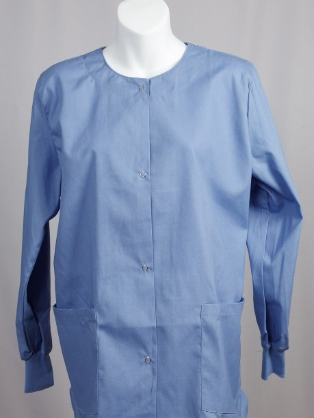 Ceil Blue Scrub Jacket M Medium Nursing Scrubs New Ebay