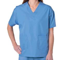 Solid Color Scrub Top